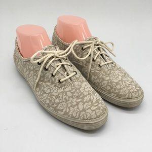 Keds Cream/Tan Floral Sneakers